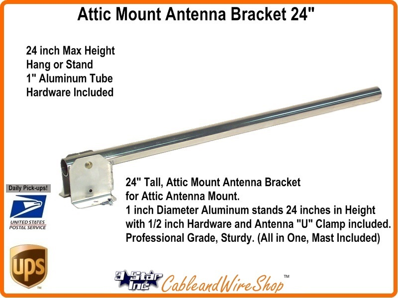 24 Quot Attic Mount Hang Or Post Tv Antenna Bracket