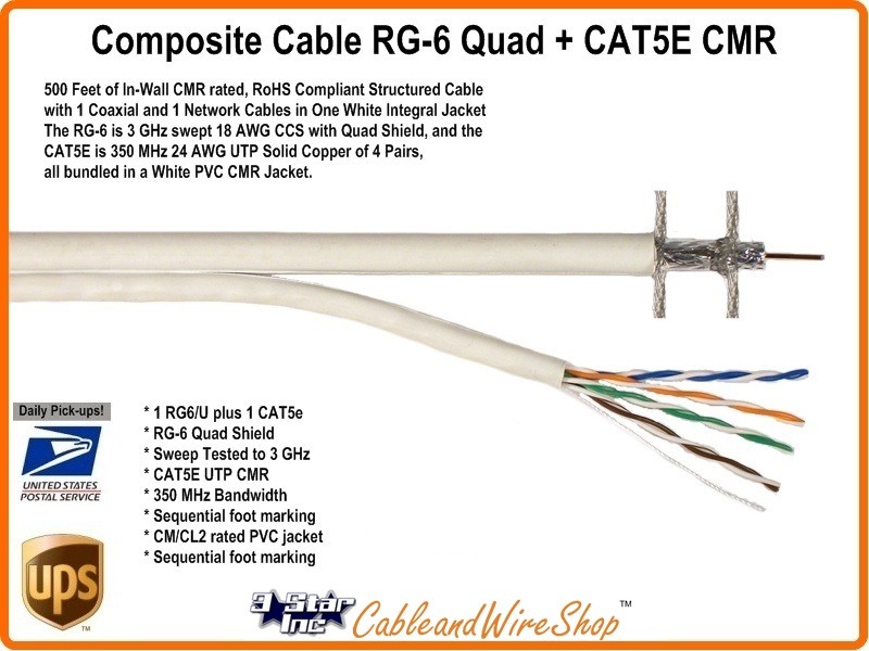 structured wiring cable rg6 shield cat5e