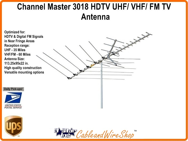 Channel Master 3018 HDTV UHF/ VHF/ FM TV Antenna
