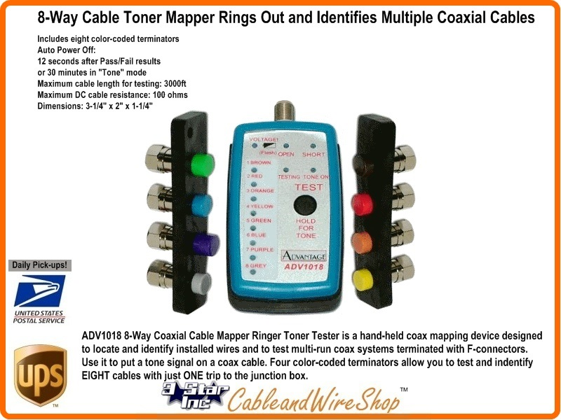 8 Way Cable Toner Mapper To Ring Out And Identify Multiple