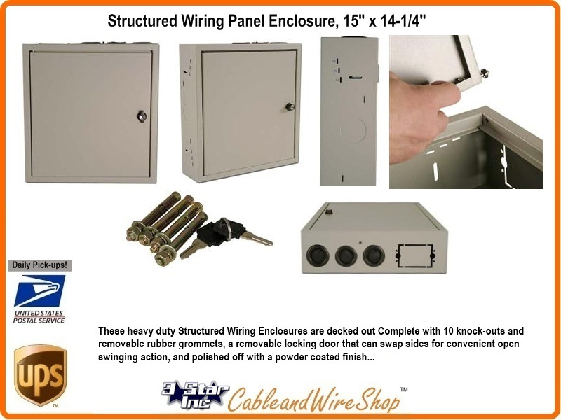 structured wiring panel wall enclosure 29 quot x 14 1 4 quot