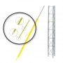 PLP 11401-Full Round Yellow Guy Marker Plastic w/Helical Pig Tail