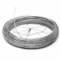 Coiled Guy Wire Dispenser Fits Any Size Coil Showing Open Frame Closed over Guy Wire