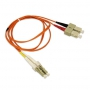 LC to SC Multimode Duplex Fiber Optic 2.0mm Patch Cable