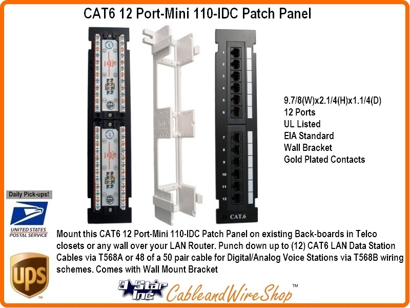 Surprising Cat6 12 Port Mini 110 Idc Patch Panel 3 Star Incorporated Wiring Cloud Hisonuggs Outletorg