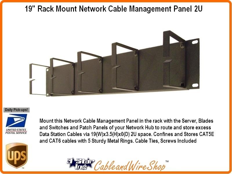 19 Quot Rack Mount Network Cable Management Panel 2u 3 Star