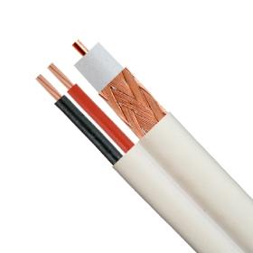 RG59/U CCTV SIAMESE 20 AWG BC, 95% BC BRAID + 18/2 POWER WIRE, PVC ...