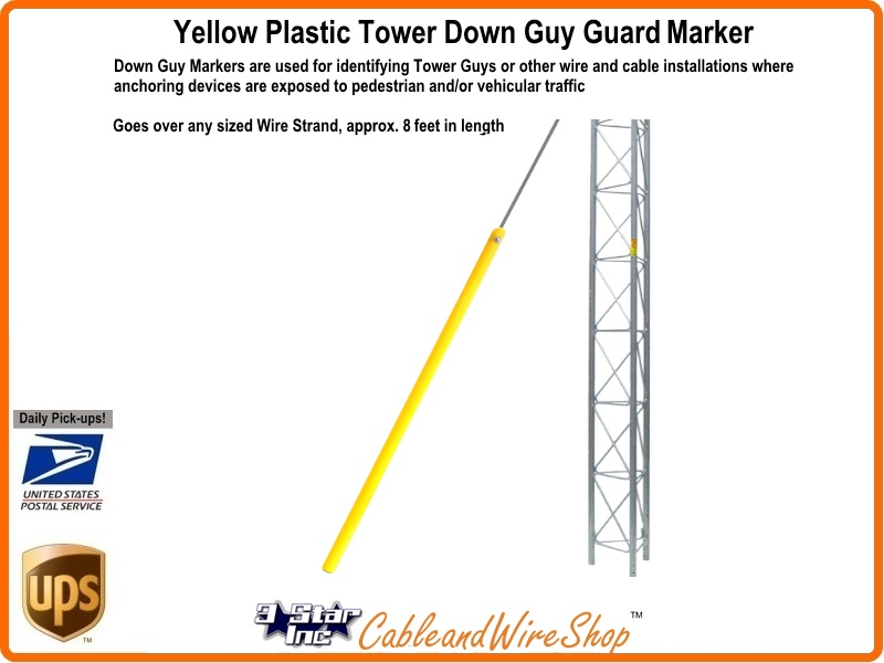 Down Guy Guard Marker Yellow Plastic