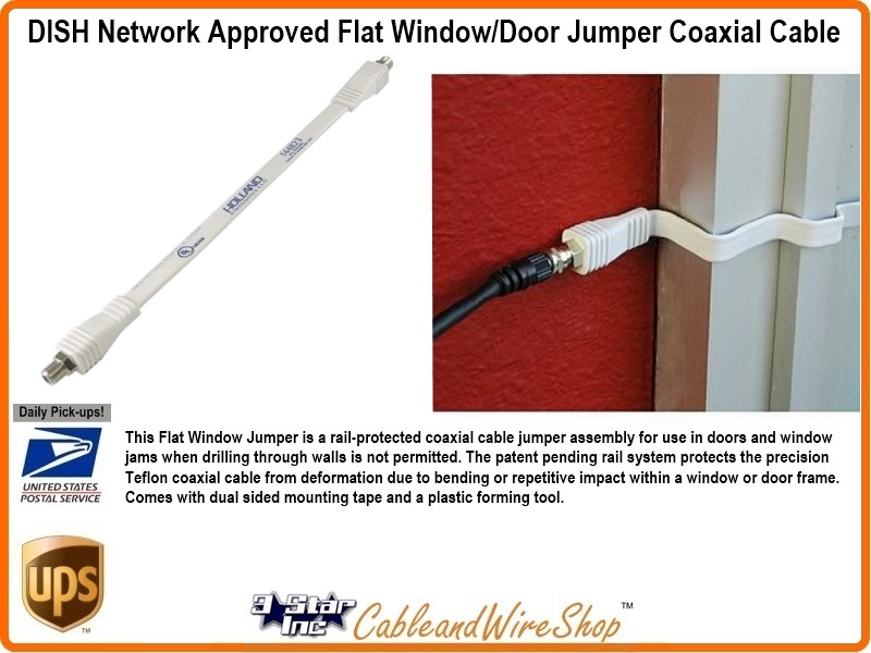 Dish Network Approved Flat Window Or Door Jumper Coaxial