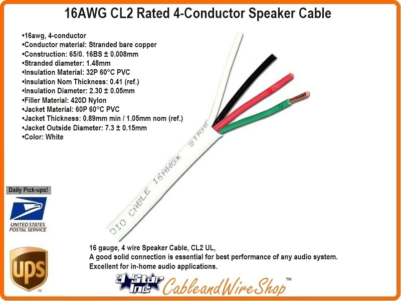 16 awg cl2 rated 4 conductor speaker cable 16 4 26 strand 500 3 rh 3starinc com Switch Wiring Diagram USB to RCA Wiring-Diagram