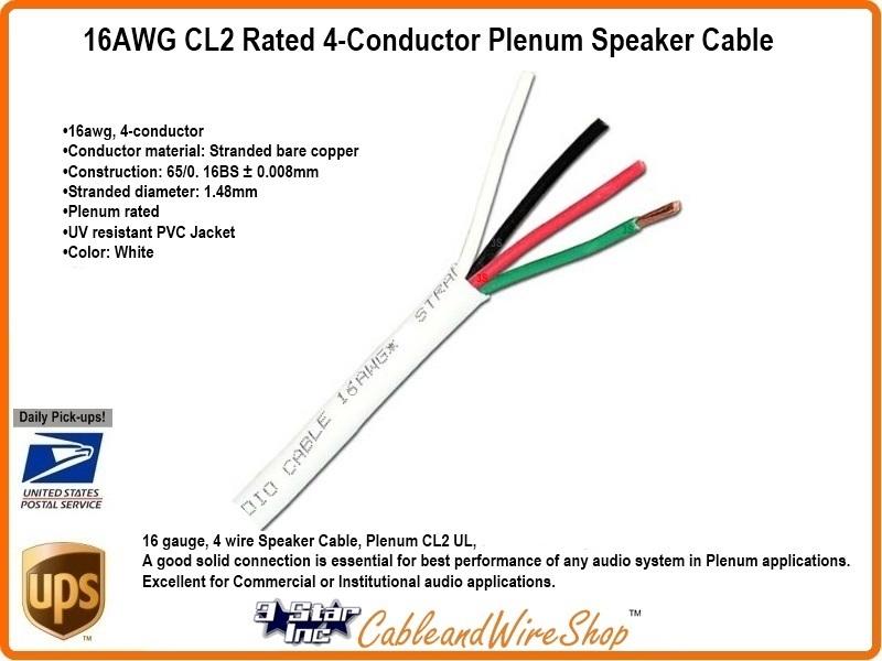 16 awg 4 count 65 strand oxygen free copper plenum low smoke zero view larger image keyboard keysfo Choice Image