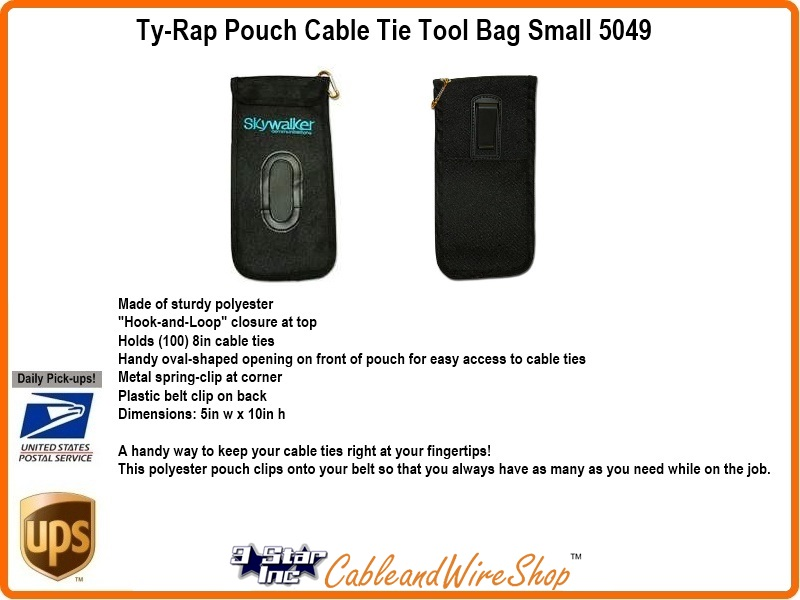 Ty Rap Pouch Cable Tie Tool Bag Small 3 Star Incorporated