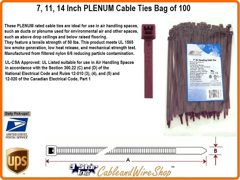 4fa3d2e0f768 7 Inch PLENUM Cable Tie | 3 Star Incorporated