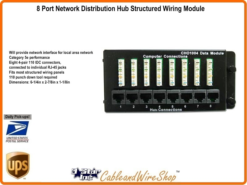 Structured Wiring 8 Port 110 Idc Data Network Interface Module | 3 ...