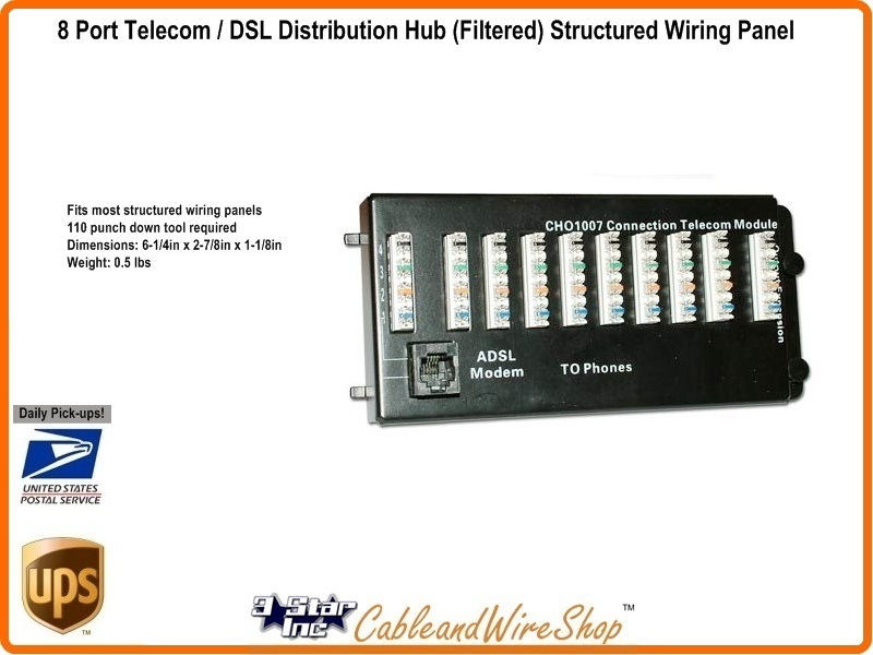 structured wiring 8 port 110 idc telephone module with dsl filtering rh 3starinc com