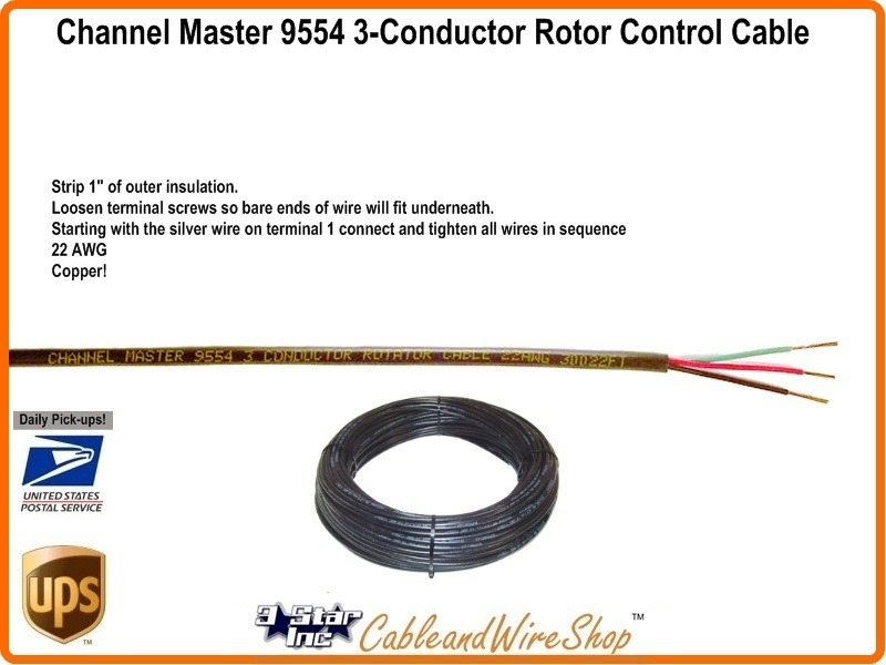 CM 9554_800x600t channel master 9554 antenna rotator control wire cable channel master rotor wiring diagram at gsmx.co