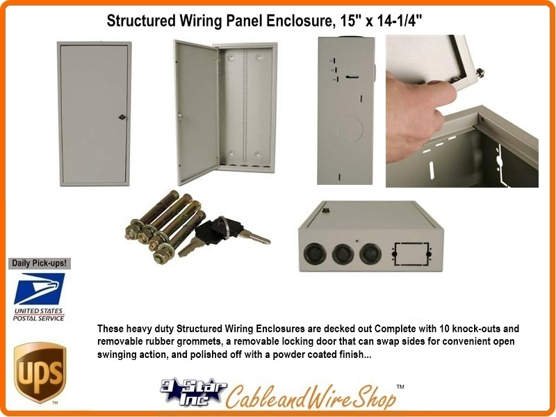Structured Wiring Panel Wall Enclosure 29
