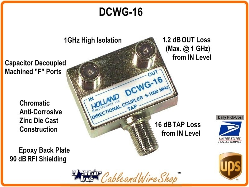 HOLLAND 16 dB Directional Coupler 5-1000 MHz