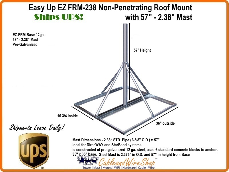 Non Penetrating Antenna Roof Mount Click Here For Larger Image