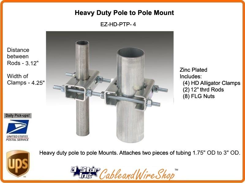 Heavy Duty Pole To Pole Mast Mount Medium 3 Star