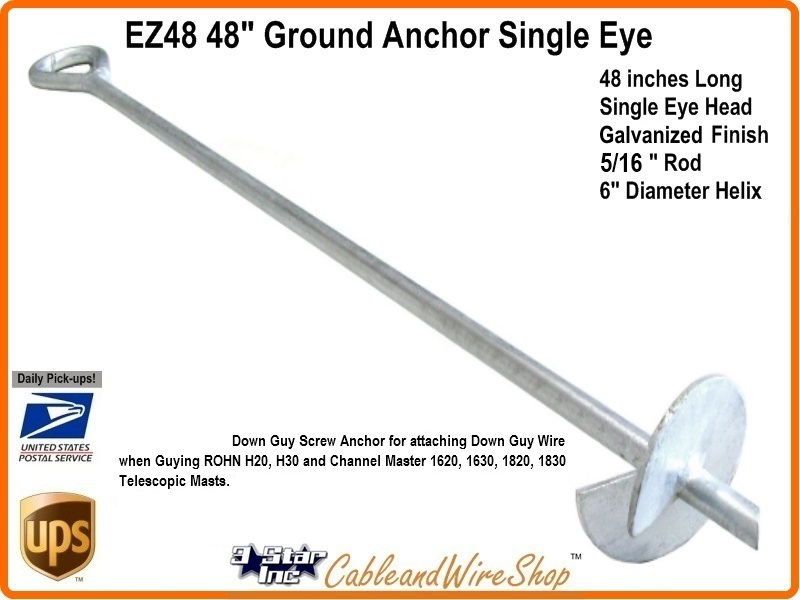 EZ48 48 quot Single Eye Screw Anchor 3 Star Incorporated