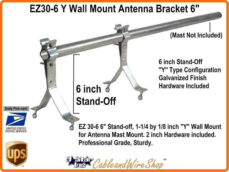 6 Inch Tv Antenna Wall Mount Y Bracket Ez30 6 3 Star