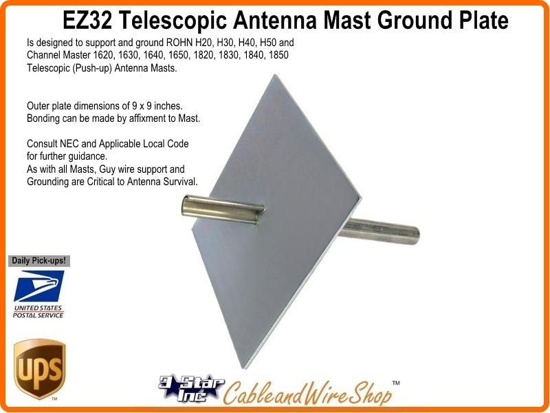 Ez32 Telescopic Antenna Mast Base Plate 3 Star Incorporated