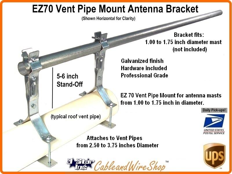 2 5 Quot 5 5 Quot Vent Pipe Mount Antenna Bracket Ez70w 3