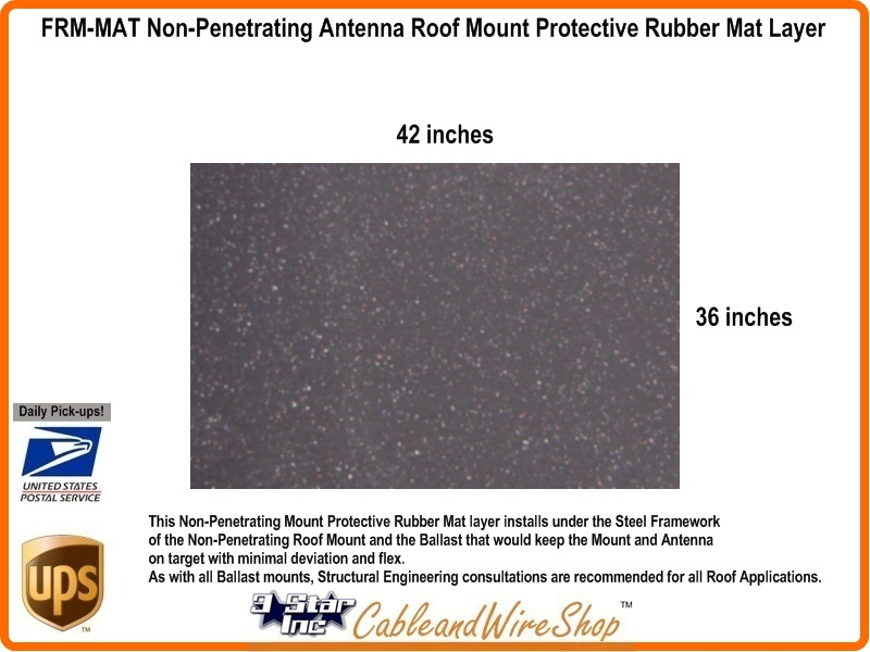 Protective Rubber Mat Layer For Non Penetrating Antenna