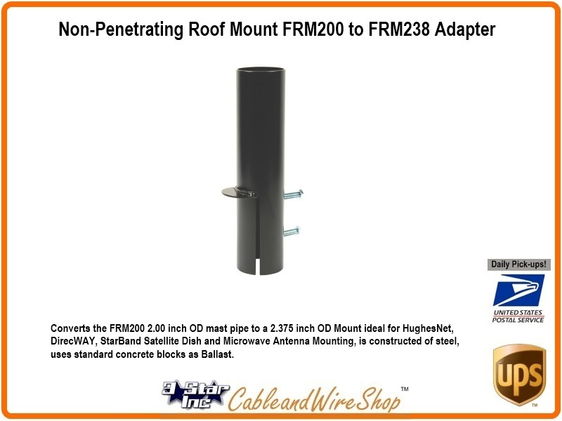 Non Penetrating Roof Mount Frm200 To Frm238 Adapter 3