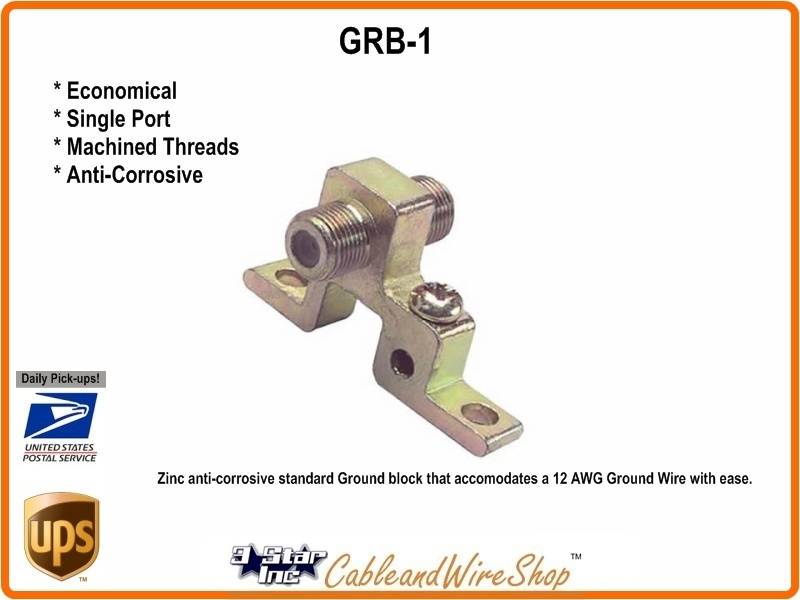 Single Port Coaxial Cable Ground Block GRB-1