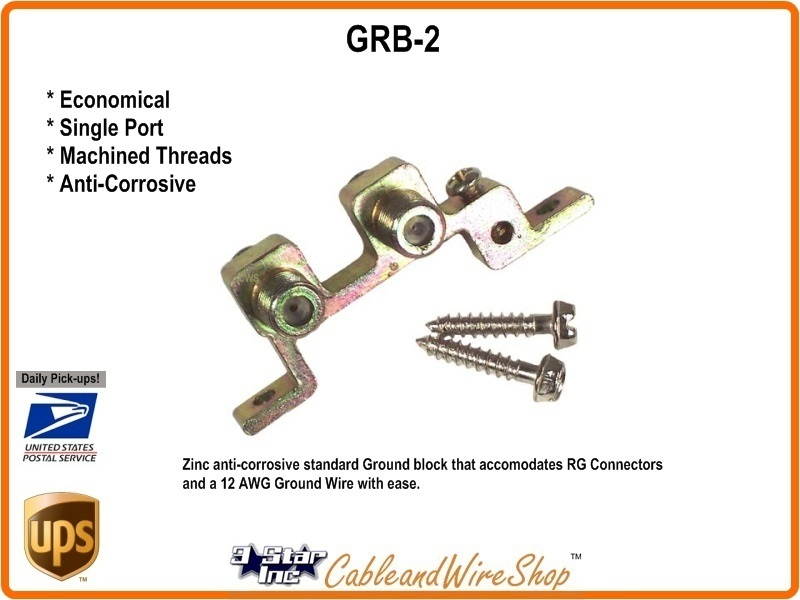 Dual Port Coaxial Cable Ground Block Grb 2