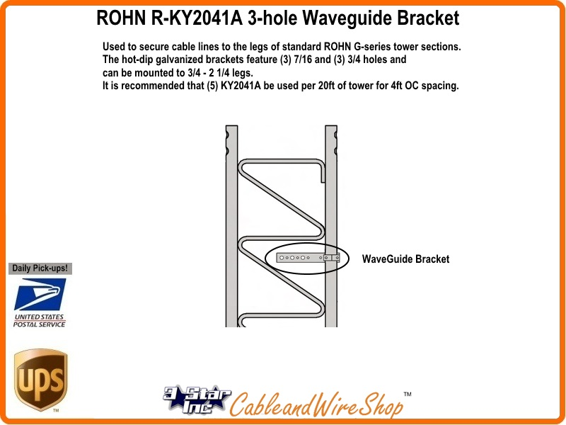 Rohn Waveguide Bracket for G Series Tower KY2041A