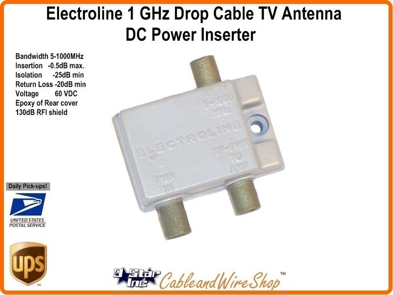 Electroline Horz Power Inserter 5 1000 Mhz Power Pass W