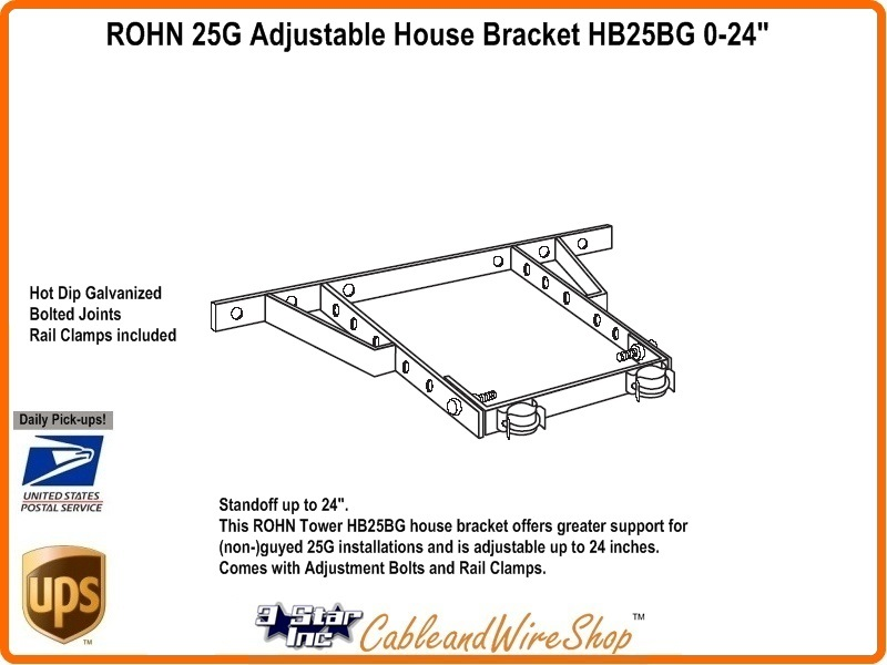 Rohn Adjustable House Bracket Star