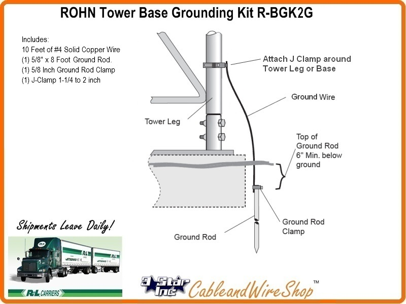 Rohn R Bgk2g Tower Base Ground Kit 3 Star Incorporated