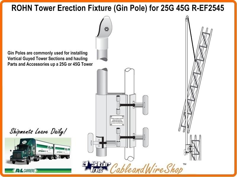 ROHN 25G 45G Tower Erection Fixture Gin Pole R-EF2545