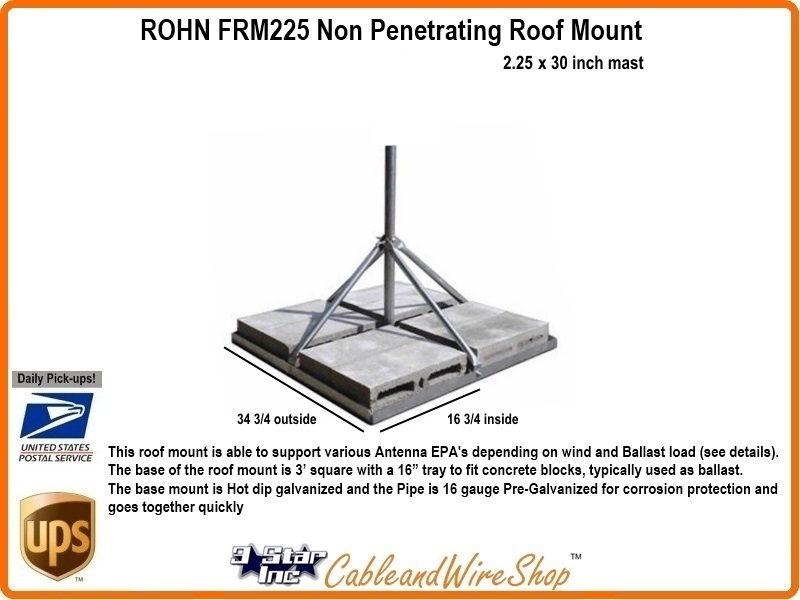 ROHN FRM225 Non Penetrating Roof Mount Click Here For Larger Image