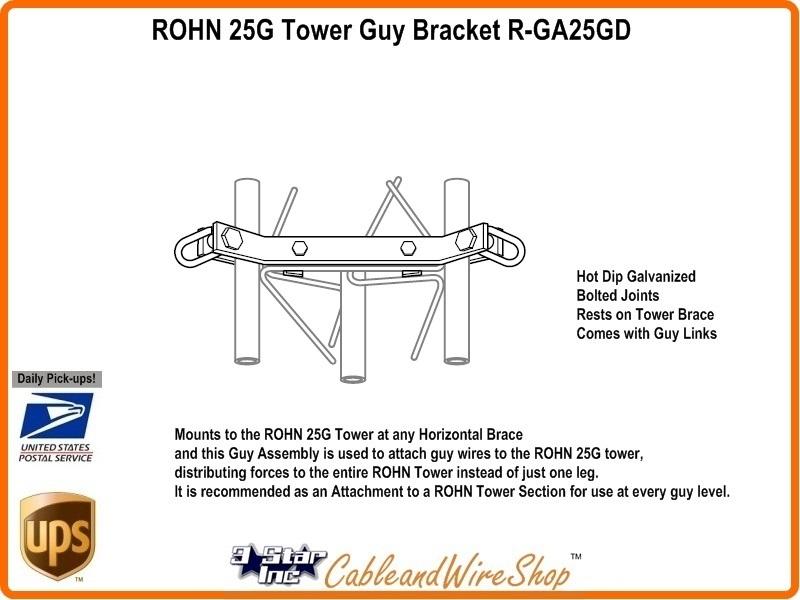 ROHN 25G Tower Guy Bracket R-GA25GD