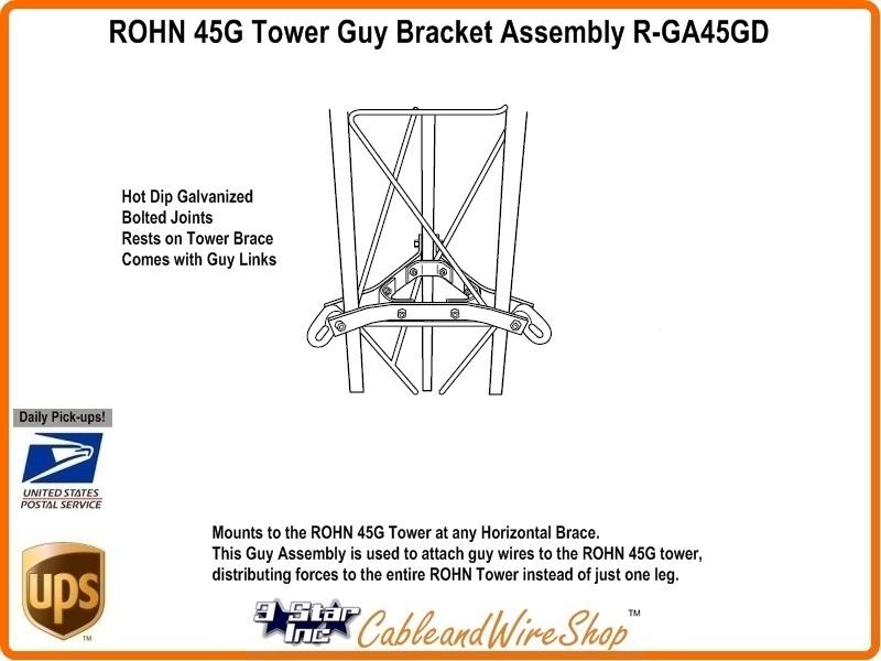 ROHN 45G Tower Guy Bracket Assembly R-GA45GD