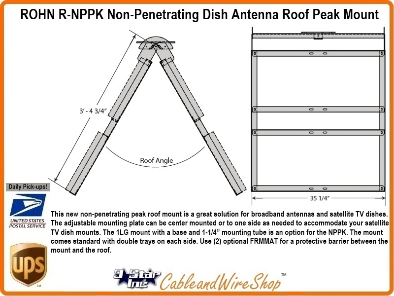 Rohn Nppk Non Penetrating Roof Mount R Nppk 3 Star
