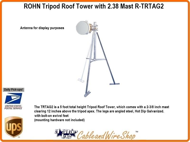 Rohn Tripod Roof Tower With 2 3 8 Mast R Trtag2 3 Star