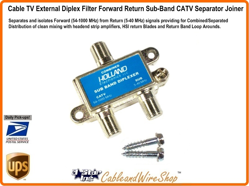 Catv External Sub Band Diplex Filter 3 Star Incorporated