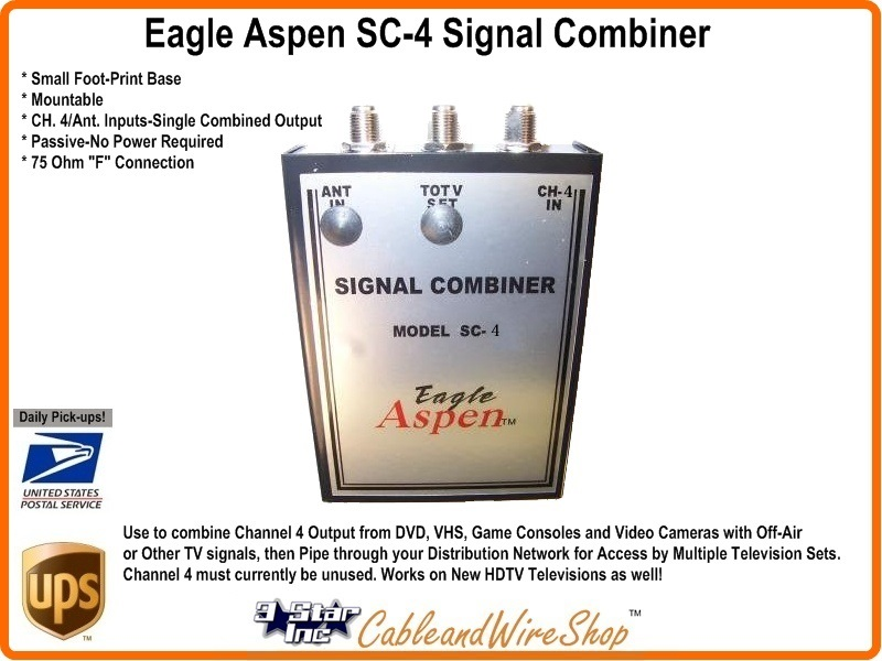 Analog Tv Channel 4 Signal Combiner Sc 4 3 Star Incorporated