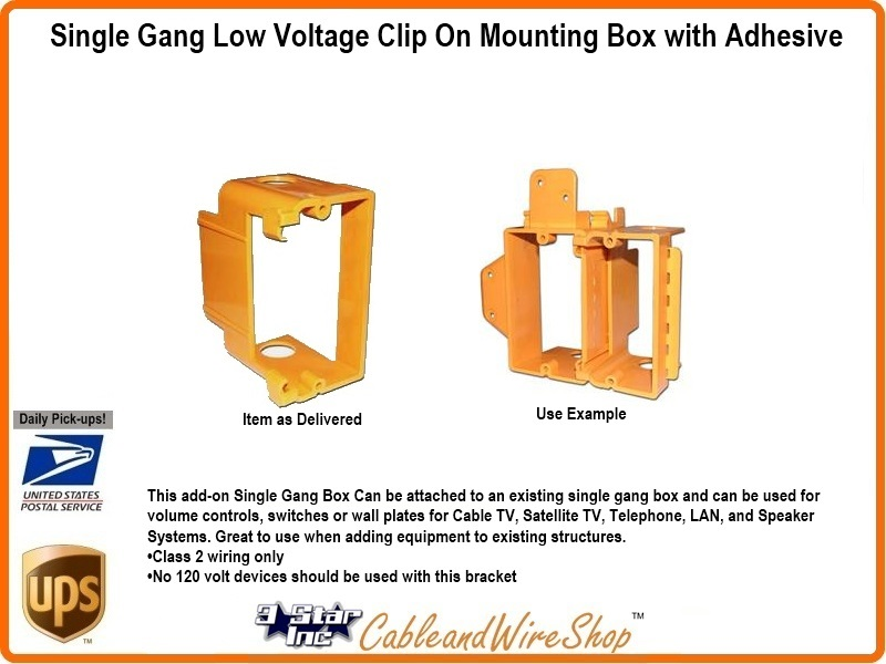 Magnificent Single Gang Low Voltage Clip On Mounting Box With Adhesive 3 Star Wiring Cloud Xeiraioscosaoduqqnet