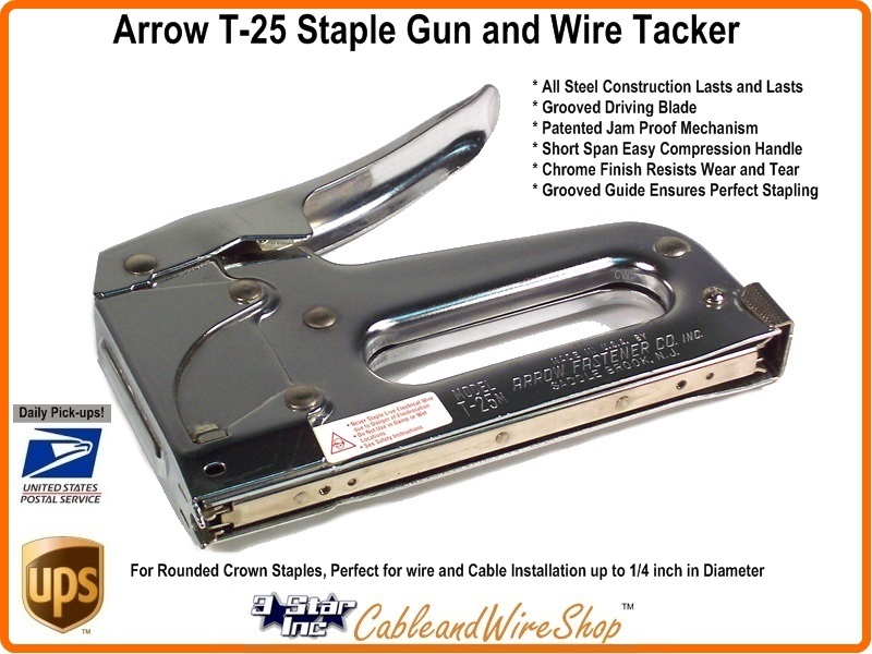 Arrow Fastener T25 Staple Gun And Wire Tacker 3 Star