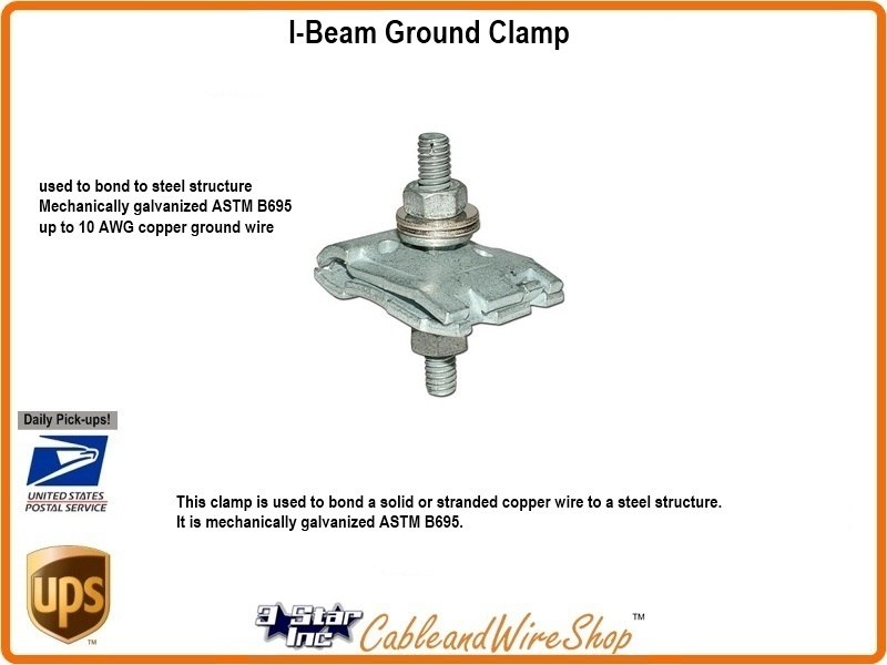 Thomas Amp Betts Tnb4004 I Beam Ground Clamp 3 Star