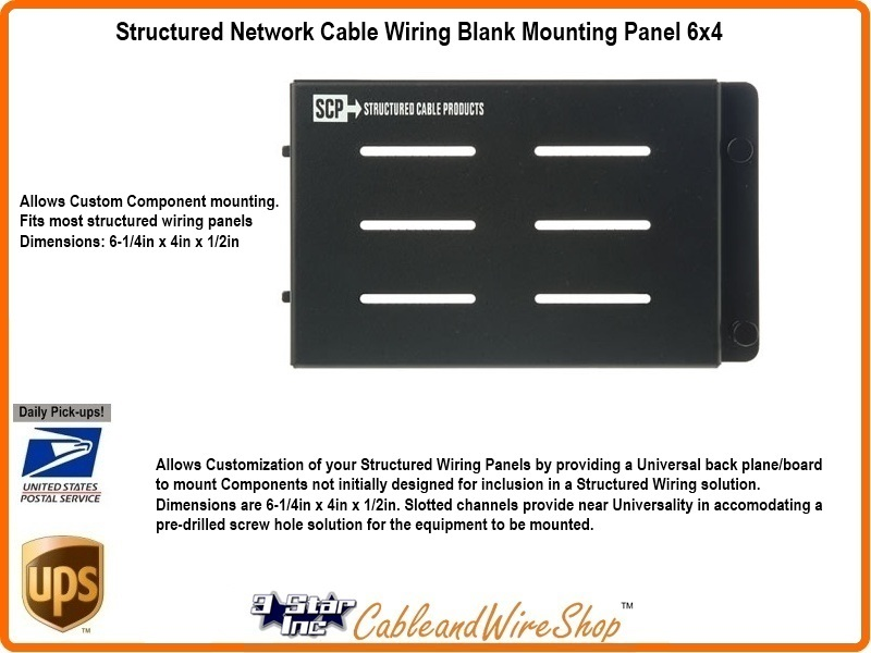 Structured Network Cable Wiring Blank Mounting Panel 6x4   3 Star ...