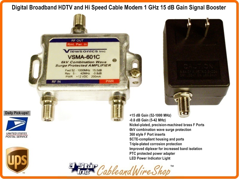 Digital Cable Signal Amplifier : Digital broadband hdtv and hi speed cable modem ghz