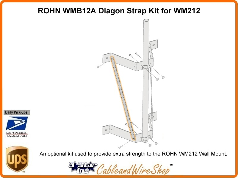 Rohn Diagonal Strap Kit For Wm212 3 Star Incorporated